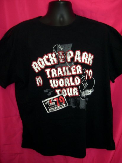 "Funny ""ROCK THE PARK - TRAILER WORLD TOUR"" XL T-Shirt"