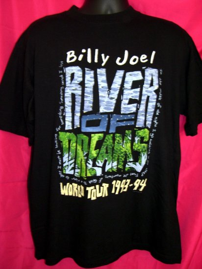 SOLD! Vintage BILLY JOEL Concert Tour Large T-Shirt 1993-1994  River of Dreams