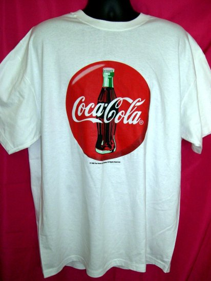 SOLD! Vintage 1998 Coca-Cola Coke White XL T-SHIRT