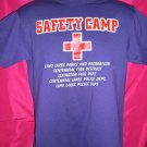 "RARE Small/Medium Purple T-Shirt  ""SAFETY CAMP"" Police & Fire Department"