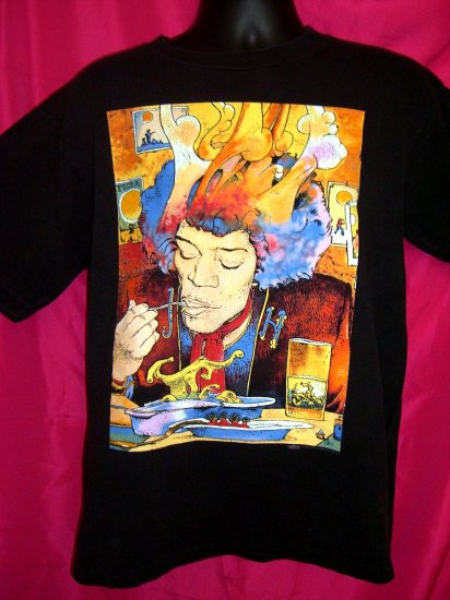 SOLD!  JIMI HENDRIX Voodoo Soup Rare Medium T-Shirt 1995
