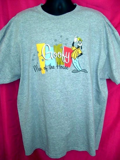 "SOLD! Disney XXL T-Shirt GOOFY Man of the House"" XXL (2XL) Funny Dad /Father Deal!"