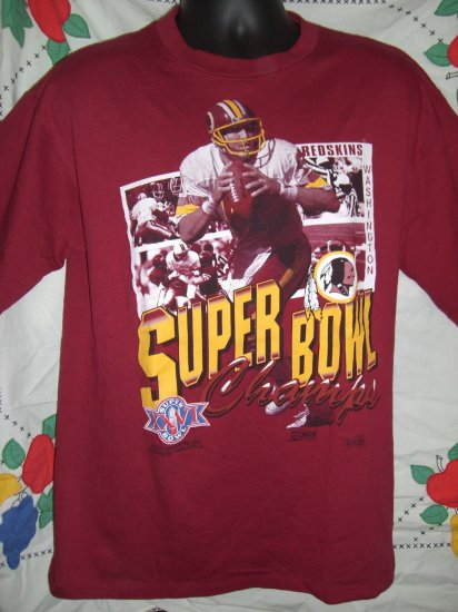SOLD! Vintage 1992 Super Bowl XXVI Washington Redskins Large T-Shirt EXCELLENT!