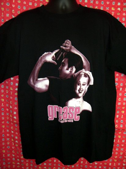 Broadway's GREASE It's Still the Word Black T-Shirt Size XL