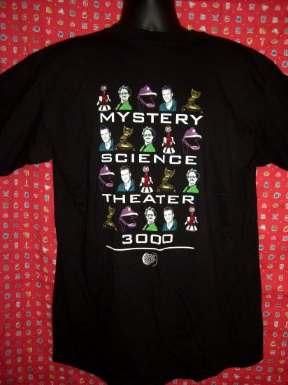 SOLD!  RARE MST3K  Mystery Science Theater 3000 Extra Large XL Black T-Shirt