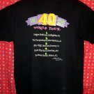 "Funny Gag Gift 40th Birthday XL Black T-Shirt ""The 40 Year Old World Tour ""  The big 4-0!!"