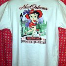 Vintage Betty Boop New Orleans French Quarter Big Easy ~ Medium T-Shirt 50% Polyester 50% Cotton!