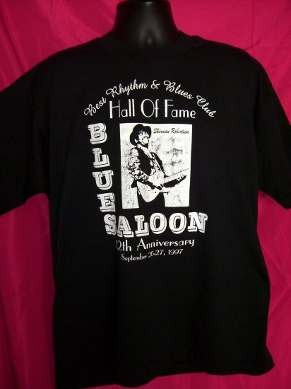 Blues Saloon 12th Anniversary 1997 Large Black XL T-Shirt Best Rhythm & Blues Club