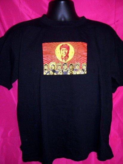 Chairman Mao  China Large Black T-Shirt