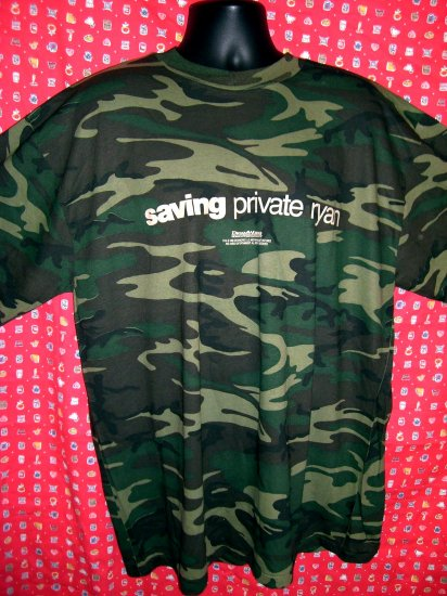 "Rare Promotional XXL / 2XLT-Shirt "" Saving Private Ryan"" Camo ARMY WWII World War II Movie"
