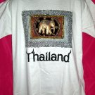 Thai Thailand Medium or Large White T-Shirt  ELEPHANT