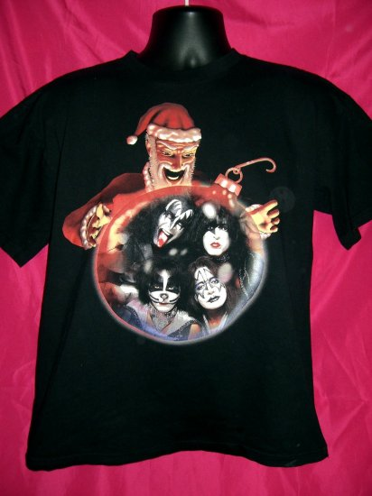 SOLD! Famous Psycho Kissmas Christmas  KISS Medium T Shirt