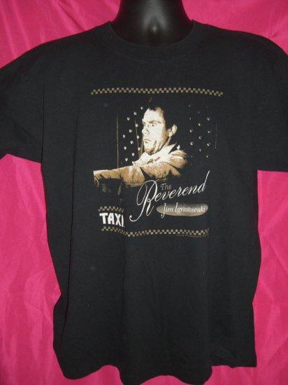 SOLD! TV Show TAXI Medium or Large Black T-Shirt The Reverend JIM IGNATOWSKI  Christopher Lloyd