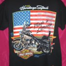 Vintage 1990 FLSCT Heritage Softtail Harley Davidson Medium / Large T-Shirt America US FLAG Free S/H