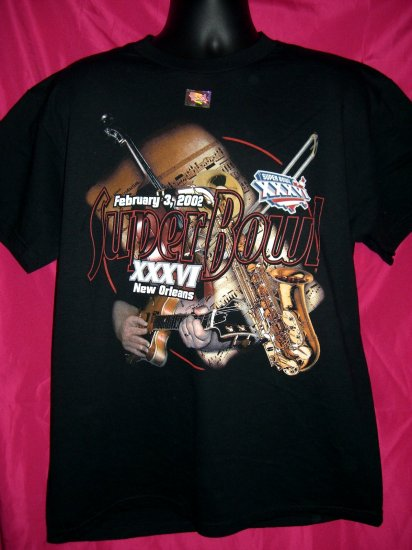 Super Bowl XXXVI 2002 New Orleans Large T-Shirt NEW!