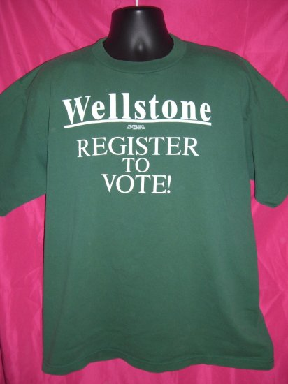 SOLD! Rare Vintage Paul Wellstone T-Shirt REGISTER TO VOTE Democratic Liberal Senator Minnesota
