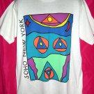 Rare Large T-Shirt SOHO NYC New York City Manhattan White ART by Doron