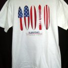 Surfing Sufer  Large T-Shirt NEW Surfboard Red White Blue American Flag Design!