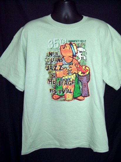 SOLD! 2004 New Orleans Jazz Festival XL T-Shirt  35th Anniversary