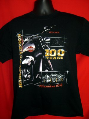 SOLD! 2003 Harley Davidson Dealer Large T-Shirt from Milwaukee / Thiensville Wisconsin