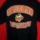 BALTIMORE ORIOLES Baseball XL Black T-Shirt 2002
