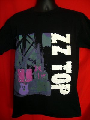 Rare ZZ Top  Antenna  Medium Black T-Shirt