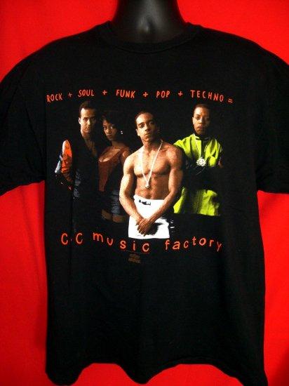 SOLD! Rare Vintage 1991 Old School Large T-Shirt C + C Music Factory Rock Soul Funk Pop Techno