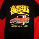 The Dukes of Hazard GENERAL LEE Car Large Black T-Shirt