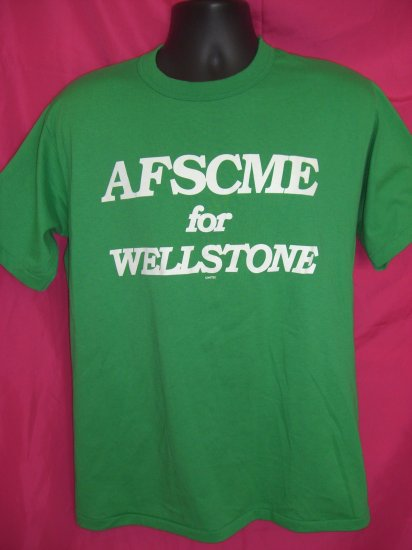 SOLD! RARE Paul Wellstone Campaign Medium / Large Green T-Shirt