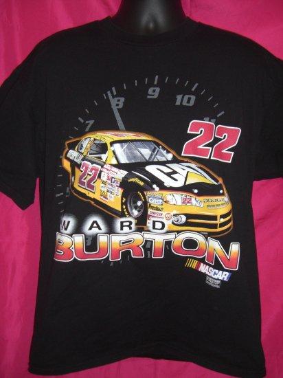 SOLD! NASCAR Ward Burton Large / XL Black T-Shirt #22 Race Car