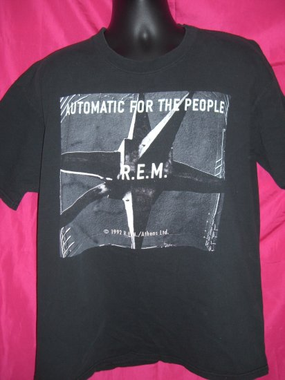 Vintage 1992 REM ( R.E.M. ) Extra Large XL T-Shirt ~ Automatic for the People