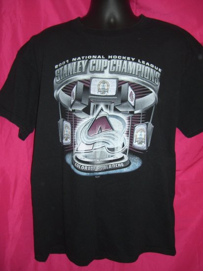 2001 HOCKEY Stanley Cup XL T-Shirt COLORADO AVALANCHE