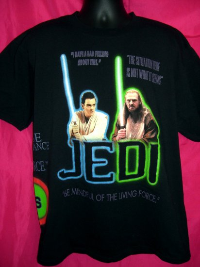 Star Wars Jedi & Sith Black XL T-Shirt Be Mindful of the Living Force