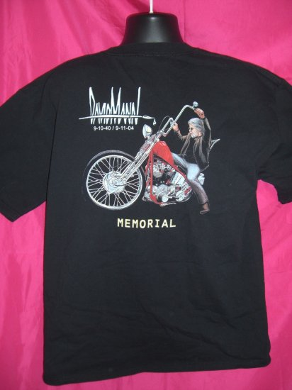 SOLD! Rare David Mann  EasyRider Easy Rider Motorcycle Artist Memorial XL T-Shirt 2004