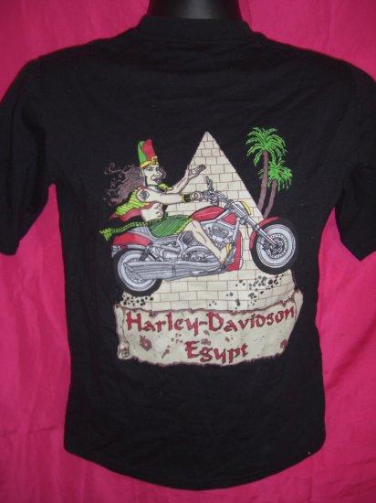 SOLD!  Harley Davidson VERY Small Black T-Shirt Cairo Egypt