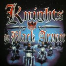 Rare Knights in Black Armor Motorcycle Medium or Large Black T-Shirt Vintage 1992