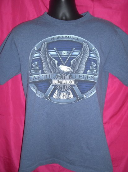 Harley Davidson St Cloud Minnesota Dealer Medium T-Shirt  Eagle