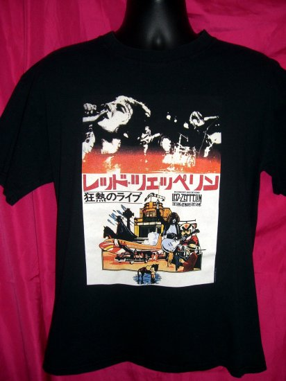 SOLD! Retro Repro LED ZEPPELIN Japanese Concert Tour Medium or Large T-Shirt
