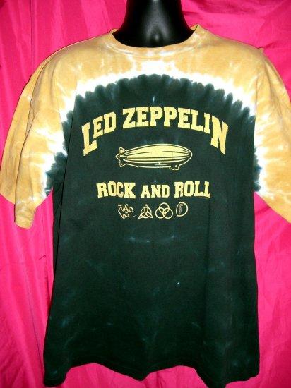 SOLD! Led Zeppelin Tie Dye Retro Repro XL T-Shirt