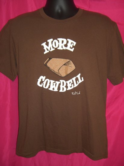 SOLD!  Early Paul Frank Medium or Large Brown T-Shirt ~ MORE COWBELL