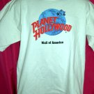 Closed PLANET HOLLYWOOD Size LARGE White T-Shirt Mall of AMERICA MN