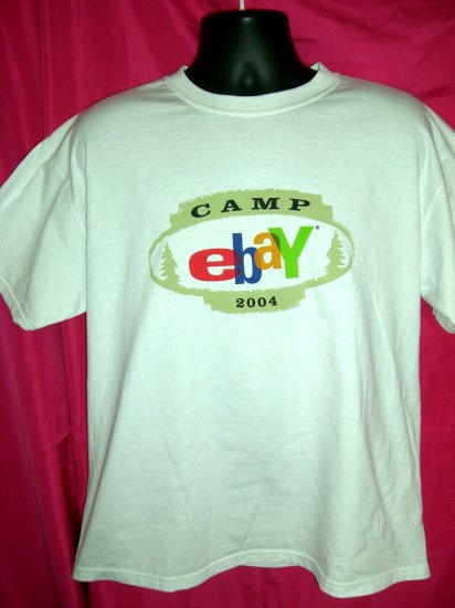 Rare Promo Camp eBay Large 50/50 White T-Shirt 2004