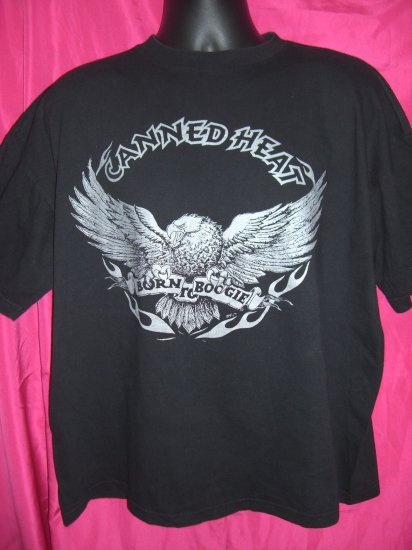 SOLD! Canned Heat XL Black T-Shirt ~ Born To Boogie Eagle Graphic