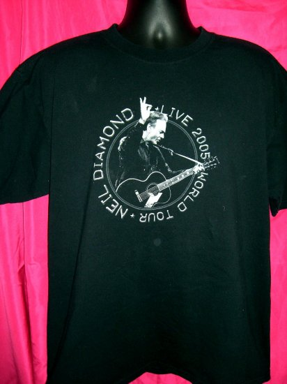 2005 NEIL DIAMOND LIVE World Tour XL Black T-Shirt