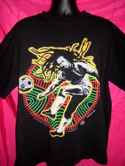 SOLD!  Vintage 1996 Bob Marley XL or  XXL T-Shirt Soccer World
