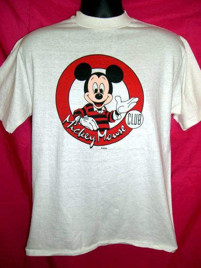 SOLD! Vintage MICKEY MOUSE Club Medium White T-Shirt