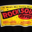 Rock and Soul Revue Rare Local Crew XL XXL T-Shirt ~ Daryl Hall John Oates Michael McDonald