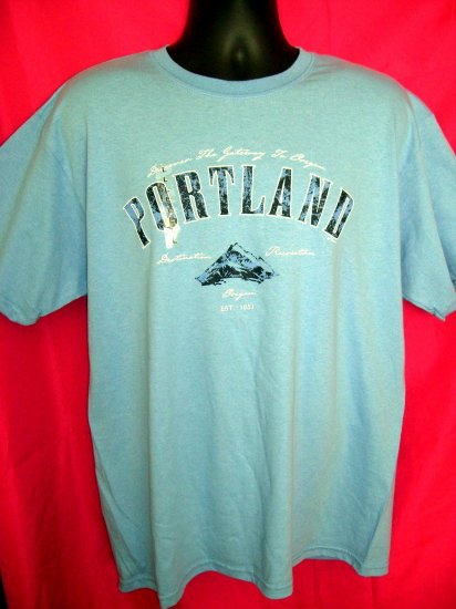 SOLD! NWT New PORTLAND OREGON Blue Large T-Shirt