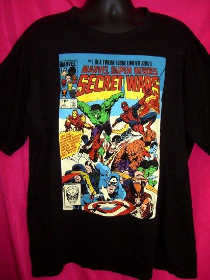 SOLD! Marvel Comics Super Heroes Secret Wars XXL Black T-Shirt
