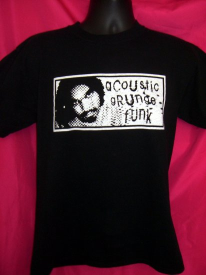 Acoustic Grunge Funk Black Medium T-Shirt ~ Band:  dEv jAna
